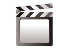Film Slate. Vector Illustration of a film slate on white background Royalty Free Stock Image