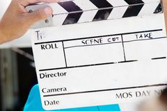 Film Slate,behind the scene Royalty Free Stock Photo