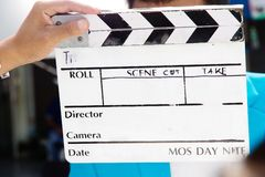 Film Slate,behind the scene Stock Image