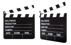 Film slate with clipping path Royalty Free Stock Photos