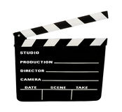 Film slate with clipping path Royalty Free Stock Image
