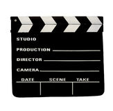 Film  slate  clipping path Royalty Free Stock Photo