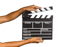 Film Slate. With isolated background Stock Images
