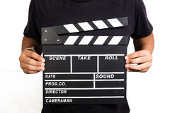 Film Slate. With isolated background Royalty Free Stock Photo
