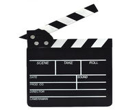 Film Slate, isolated on white, with clipping path Royalty Free Stock Images