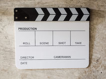 Film slate movie tool Royalty Free Stock Images