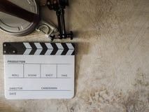 Film slate movie tool Stock Photo