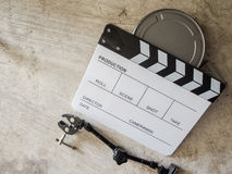 Film slate movie tool Royalty Free Stock Photography