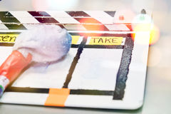 Film Slate on set Royalty Free Stock Photos