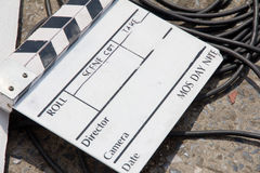 Film Slate on set Stock Images