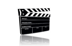 Film slate. Use in film production on the background Stock Photos