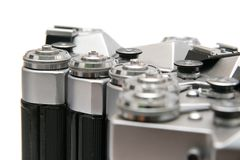 Film SLR cameras - detail Royalty Free Stock Image