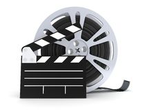 Film spool isolated. Film on a white background in 3d Royalty Free Stock Image