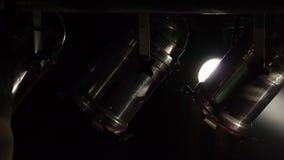 Film spotlights - nightclub - bar music - light show stock video