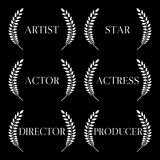 Film Stars Laurels Black & White 1 Stock Photography