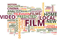 Film Is Still A Relative Newcomer In The Pantheon Of Fine Arts Text Background Word Cloud Concept Royalty Free Stock Images