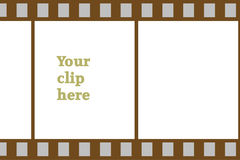 Film stip clip board. A clip board in the form of a film strip Royalty Free Stock Images