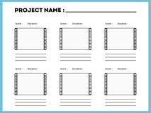 Free Film Storyboard Composition Scene Template Stock Photos - 121642583