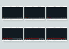 Film storyboard template. Video 16 9 design Stock Photography