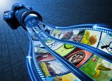 Film-Streifen-Abbildungen Lizenzfreie Stockfotos