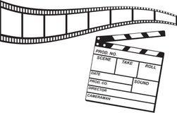 Film-Streifen und Schindel Lizenzfreie Stockfotos