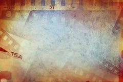 Film streift Hintergrund ab Stockfoto