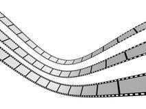 Film Strip 1. 3d film strip. White background Stock Photos