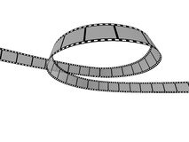 Film Strip 10. 3d film strip. White background Royalty Free Stock Images