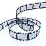 Film Strip. 3d image of a filmstrip isolated on white background Stock Photography