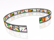 Film strip. With colour pictures Royalty Free Stock Photos