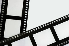 Film strip. Black and white Duo film strip background Royalty Free Stock Image