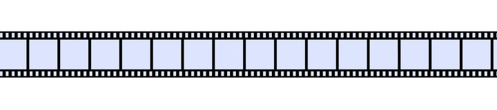 Film Strip. 3D Illustration. Isolated on white Stock Photos