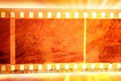Film strip. Closeup of film strip frames Stock Images