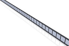 Film Strip. 3D Illustration. Film Strip. Isolated on white Royalty Free Stock Photography