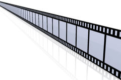 Film Strip. 3D Illustration. Film Strip. Isolated on white Royalty Free Stock Photos