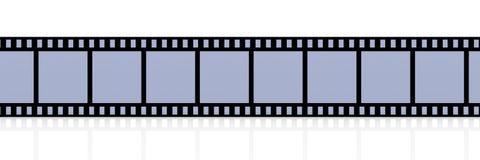 Film Strip. 3D Illustration. Film Strip. Isolated on white Stock Images
