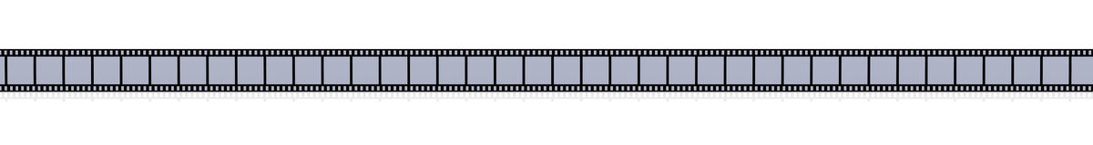 Film Strip. 3D Illustration. Film Strip. Isolated on white Royalty Free Stock Photo