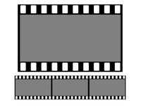 Film Strip. 1:1, 35mm digital high resolution Royalty Free Stock Photo