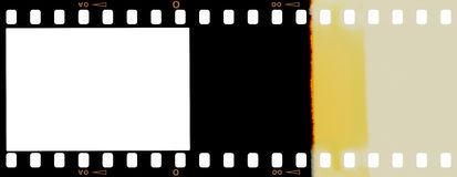 Film strip. With separate clipping paths for image and for perforation Stock Images