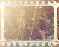Film strip. Old film strip with some damage to it Stock Photos