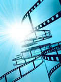 Film Strip. 3d illustration on blue background Royalty Free Stock Photo