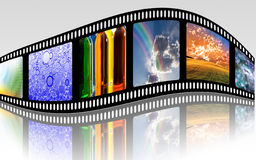 Film Strip. On reflective white Stock Image
