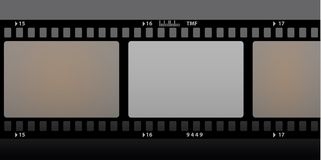 Film strip. Old film strip color illustration Stock Photo