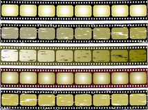 Film strip. Five colour grunge film strip vector image Stock Photo