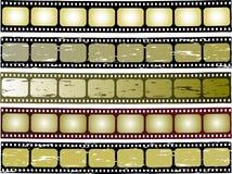 Film strip. Five colour grunge film strip vector image stock illustration