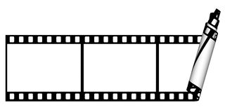 Film strip. Curl  from the one part on a white background Royalty Free Stock Photo