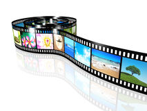 Film strip. An image of a film strip with nice pictures Royalty Free Stock Photo