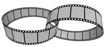 Film Strip 15. 3d film strip. White background Stock Images