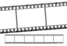 Film strip. Total 6 continous frames. vector with correct dimension and details Royalty Free Stock Image