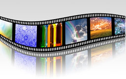 Film Strip. In Full Color Royalty Free Stock Photos